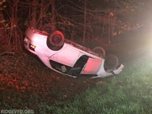 No Injuries Reported After Single Vehicle Rollover in Saint Mary's City