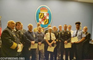 Board of Charles County Commissioners Recognize Volunteer Top Responders