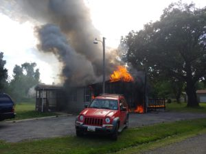 Fire in Bushwood Destroys House and Sends One to Hospital