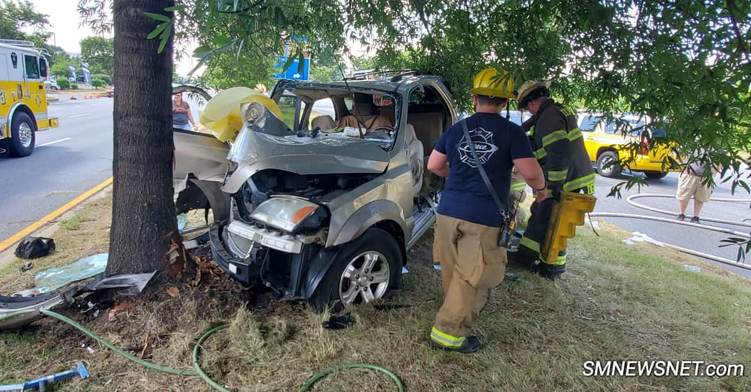 Driver Flown to Trauma Center After Striking Tree in