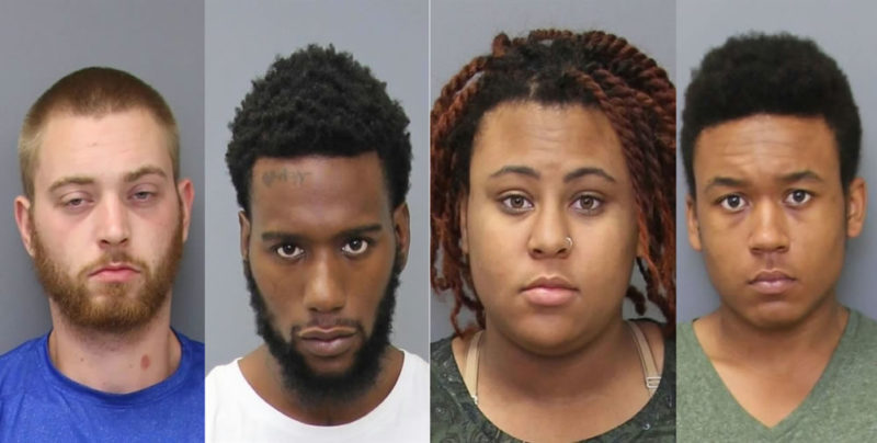 Joseph Robert Ellsworth Hayes, 22, of Nanjemoy; Jeffrey Carter, 23, of Bryans Road; Annaya Rachel Liverpool, 22, of Virginia and Teziah Marquis Randall, 18, of Bryans Road
