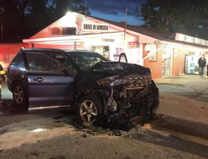 One Flown to Area Trauma Center After Crashing Into Parked Car at Village Liquors