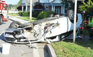 One Injured After Single Vehicle Roll Over in Callaway