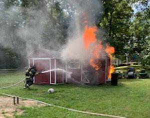 Shed Fire in Mechanicsville Under Investigation
