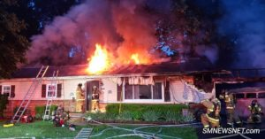 VIDEO: Local Firefighters House Destroyed After Early Morning Fire in Lexington Park