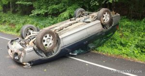 No Injuries Reported After Single Vehicle Rolls Over in Great Mills