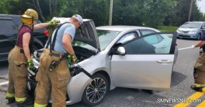Two Patients Transported to Hospital After Motor Vehicle Accident on Great Mills Road