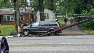 No Injuries Reported After Vehicle Strikes Pole in Waldorf
