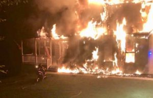 House Completely Destroyed by Fire in Saint Leonard Under Investigation