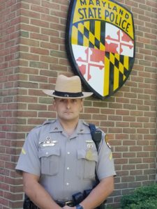MSP Leonardtown Barrack's Trooper of the Month for May 2019 is TFC DiToto