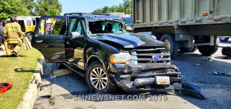 VIDEO: Two Injured After Serious Crash in Lexington Park