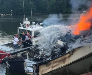 Yacht Destroyed After Early Morning Fire in Lusby