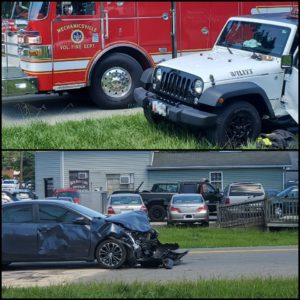One Injured After Motor Vehicle Accident in Mechanicsville