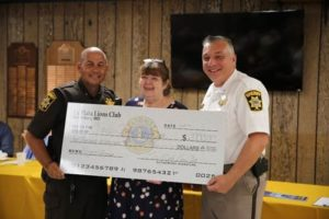 CCSO Project Lifesaver Program Receives Donation From La Plata Lions Club