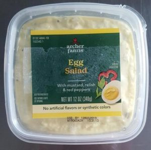Elevation Foods Recalls Packaged Egg Salad, Tuna Salad, Thai Lobster Salad, and Archer Farms Deviled Egg Sandwiches Due to Possible Health Risk
