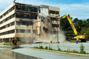 Demolition Begins to Make way for new Medstar Shah Medical Group Building in Waldorf