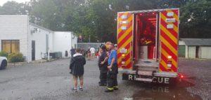 Firefighters Respond After Tree Falls on Bert's 50's Diner in Mechanicsville