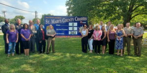 The Maryland State Police Leonardtown Barrack Installs New Signs to Highlight Southern Maryland Impaired Driving, and Opioid Crisis