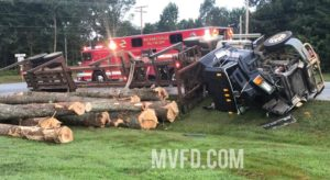One Transported to Trauma Center After Tractor-Trailer Overturns in Mechanicsville