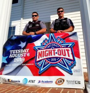 Calvert County Schedule for The 36th Annual National Night Out on Tuesday August 6