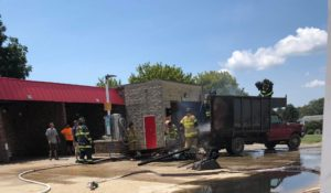 Firefighters in Leonardtown Responded to Burchmart for Vehicle Fire Threatening a Structure