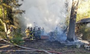 Shed Destroyed and Home Damaged After Fire in Indian Head