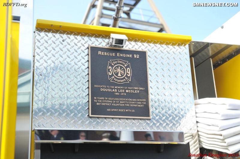 Bay District Volunteer Fire Department Honors Their Fallen Members