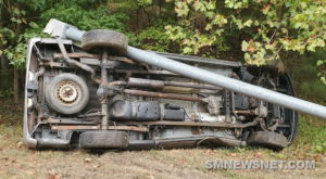 Minor Injuries Reported After Rollover Crash in Leonardtown