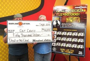 Leonardtown Woman and her Husband Claim $50,000 Scratch-off Prize