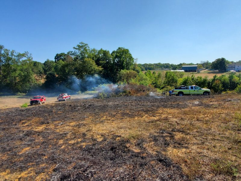 Firefighters in St. Mary's and Charles County Respond to Large Brush Fire in Mechanicsville