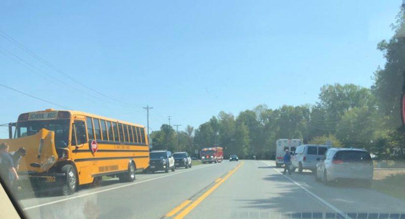 Bus 592 Involved in Minor Motor Vehicle Accident in Leonardtown