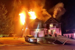 State Fire Marshal Investigating Early Morning House Fire in Huntingtown Where Two Firefighters Were Injured
