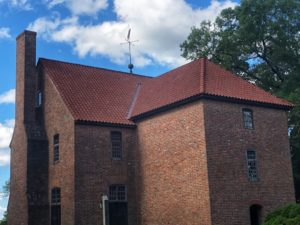 State House of 1676 in Historic St. Mary's City Currently Undergoing Renovations and Repair