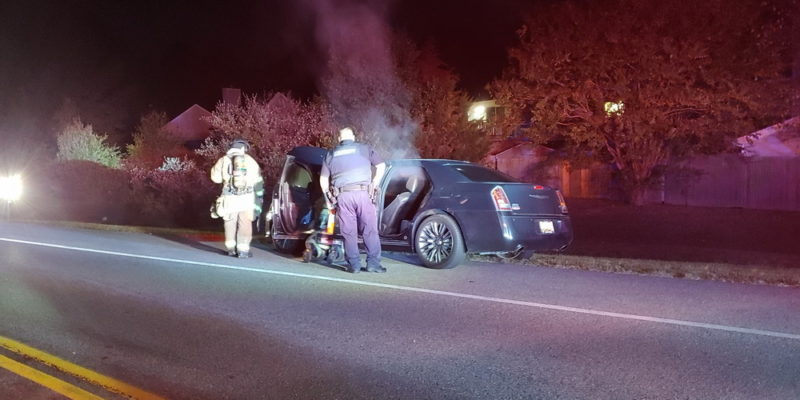 Police and Firefighters Extinguish Vehicle Fire in Lexington Park Late Tuesday Night
