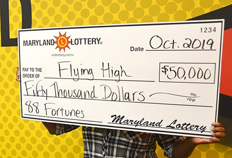 """Even after claiming her $50,000 88 Fortunes® prize, """"Flying High"""" said the reality of her situation was still sinking in."""