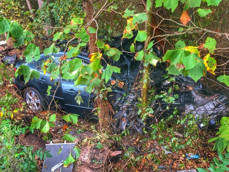 Firefighters Quickly Extinguish Vehicle Fire After Motor Vehicle Accident in Lothian