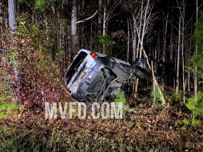 One Injured After Single Vehicle Crash in Mechanicsville