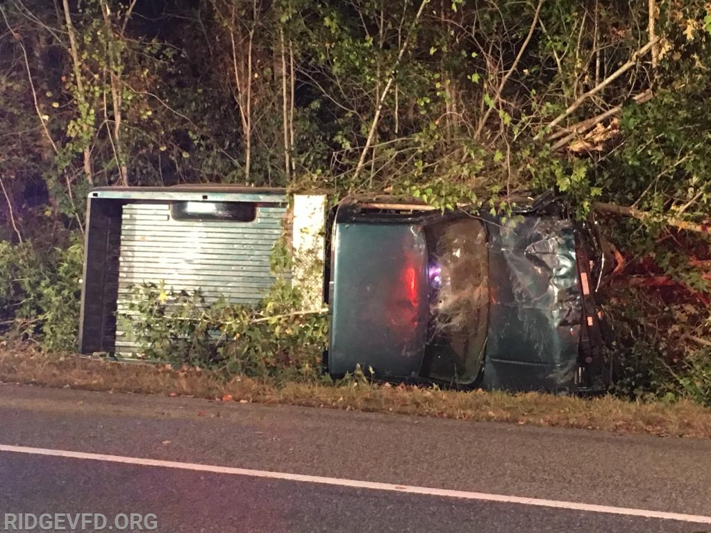 Single Vehicle Rollover in Lexington Park Sends One to Area Hospital