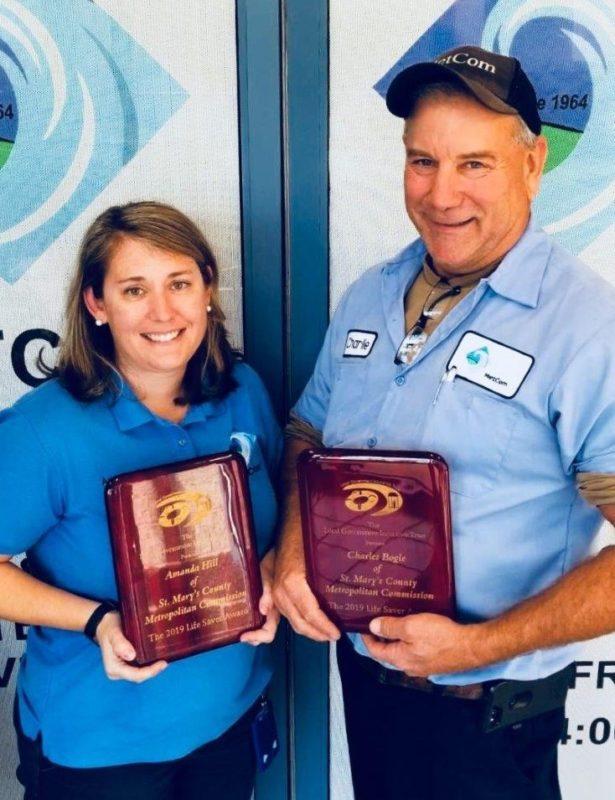 MetCom Employees Receive Life Saver's Award