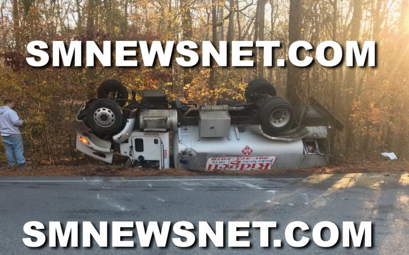 One Injured After Oil Tanker Truck Overturns in Mechanicsville