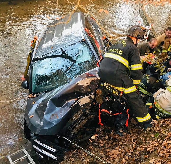 Driver Injured After Vehicle Strikes Tree and Crashes into McIntosh Run Creek in Leonardtown