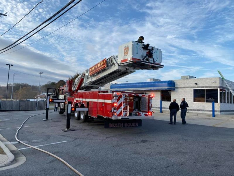 Firefighters in Calvert Quickly Extinguish Fire at Chesapeake Beach Laundromat