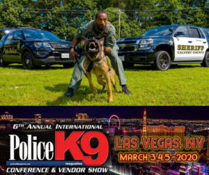 Calvert County Sheriff's Deputy Vaughn Evans and K9 Partner Win Giveaway to New Vegas Police K-9 Conference and Vendor Show