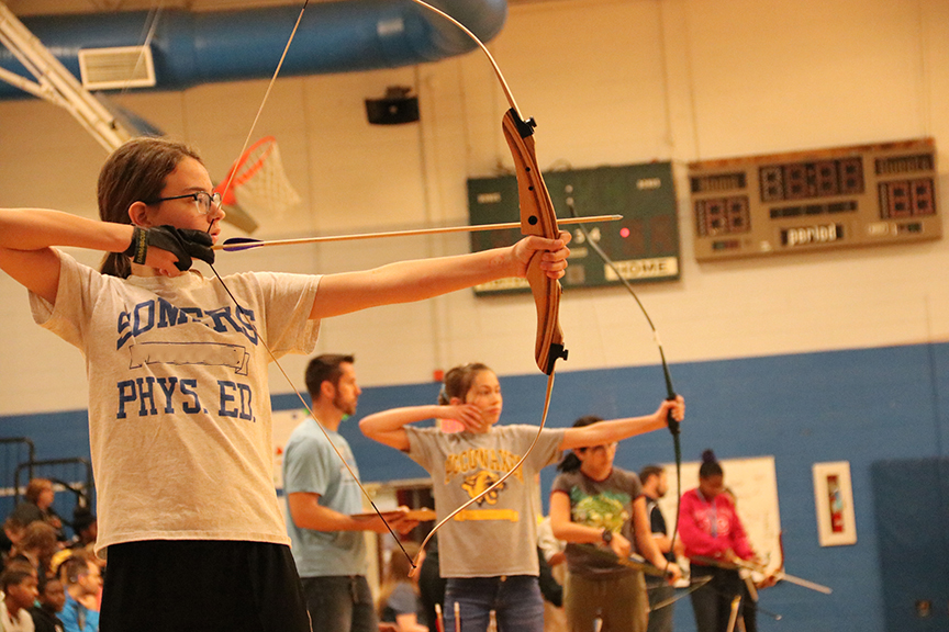 Middle School Students Take Aim at Archery Tournament in Charles County