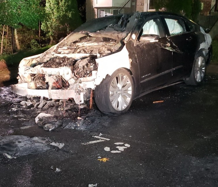 Vehicle Complete Loss After Malfunction Causes Fire in Waldorf