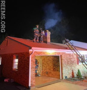 Firefighters in Charles County Quickly Extinguish Chimney Fire in Bryans Road