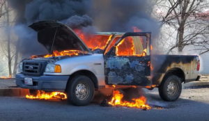 VIDEO: Firefighters Respond to Vehicle Fire in Great Mills