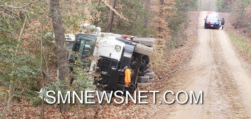 No Injuries Reported After Garbage Truck Overturns in Leonardtown