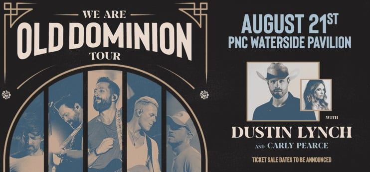 Old Dominion, Dustin Lynch, and Carly Pearce Coming to Calvert Marine Museum on Friday, August 21, 2020