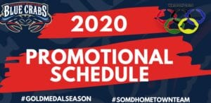 Southern Maryland Blue Crabs 2020 Promotional Schedule